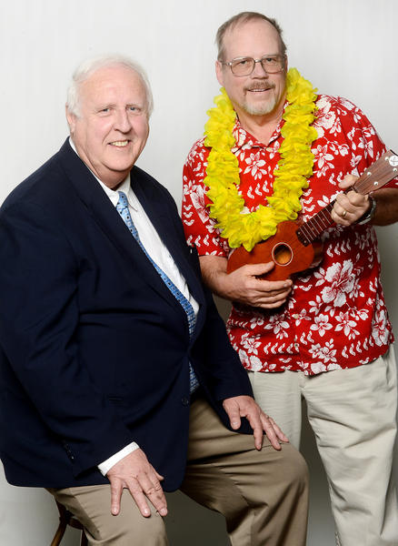 Bill Divelbiss, left, and Jerry Mullenix are headed to the Senior Idol State competition in Baltimore this April.
