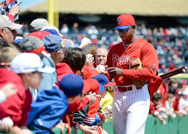 Outfielder Domonic Brown made some changes in his grip and his stance at the plate and as a result he will be on the Phillies' opening day roster for the first time. He's expected to start the season in right field.