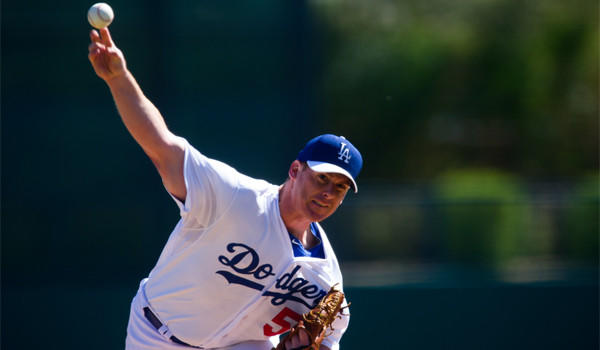 Chad Billingsley, shown pitching for the Dodgers back in February, is one of two L.A. starters expected to start the season on the disabled list.