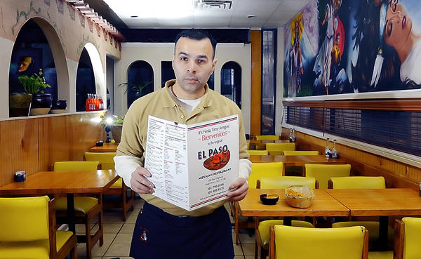 "Jose ""Joey"" Gomez plans to move his El Paso restaurant from 700 Dual Highway to 10-12 E. Washington St. in downtown Hagerstown in May."