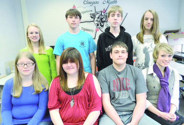 "The North Star High School faculty as selected the following pupils as ""Student of the Month"" for March. From left, seated: Micki Brant, Emily Mishler, Robbie Bloom and Tessa Evans. Back row: Sumer Rininger, Logan Lichvar, Ryan Sopich and Benjamin Volk."
