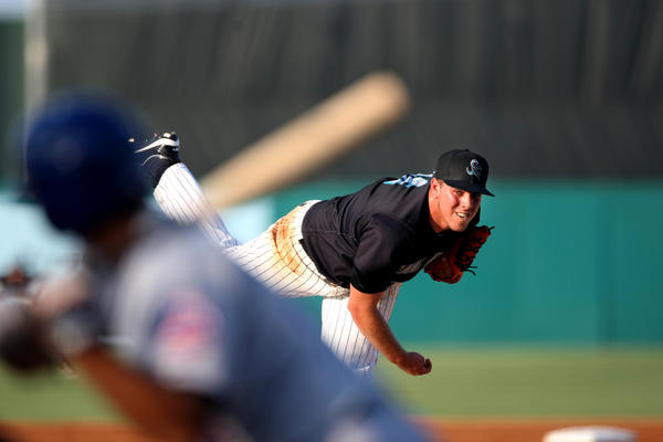 062812 (Gary Coronado/The Palm Beach Post) -- Jupiter -- Jose Fernandez (16), of the Jupiter Hammerheads, the Miami Marlins' No. 1 draft pick in 2011, pitching against the St. Lucie Mets at Roger Dean Stadium in Jupiter on Thursday. (Gary Coronado/The Palm Beach Post)