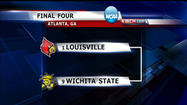 The Wichita State Shockers will take on the Louisville Cardinals in the Atlanta next Saturday at 5:09pm. That game can be seen on KWCH.