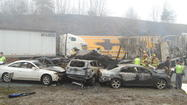 The names of the three people killed in the 95 car pile-up on Interstate 77 in Carroll County on Sunday have been released.