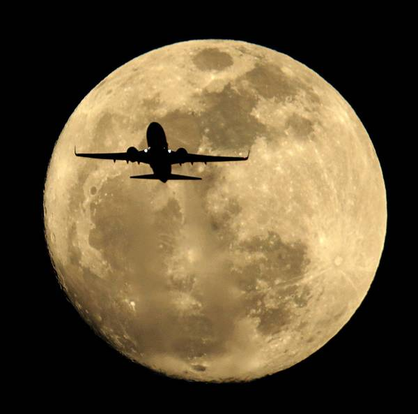 Southwest Airlines' latest ads are polished and professional and push the message that Southwest is the airline for entrepreneurs and pioneers. Above, a Southwest jet is silhouetted against the rising full moon as it takes off from Sky Harbor Airport in Phoenix in February.