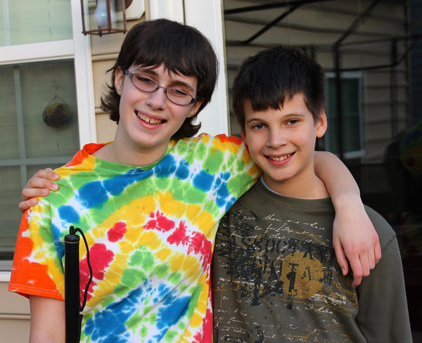 Teagan Russ, 14, and her 11-year-old brother, Garrison Russ, are working with the Curing Retinal Blindness Foundation to fund research for the gene mutation that caused Teagan's blindness.