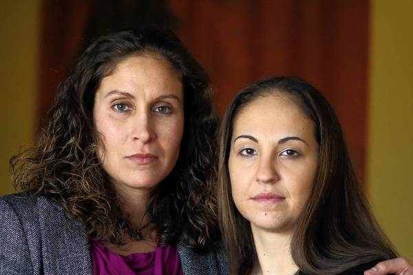 Chief Petty Officer Sabrina Russell, left, and Petty Officer 1st Class Jodi Geibel believe they have been targeted by other enlisted sailors who blamed them for reporting unrelated claims of sexual harassment, according to a lawyer representing Russell. Russell faces trial by court-martial on fraternization charges.