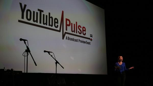 "Shira Lazar, host of YouTube show ""What's Trending"", speaks during YouTube Brandfest at the Museum of Contemporary Art last month."