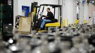 WASHINGTON -- Growth in the crucial manufacturing sector unexpectedly slowed in March as companies reported fewer new orders and less production compared with the previous month.