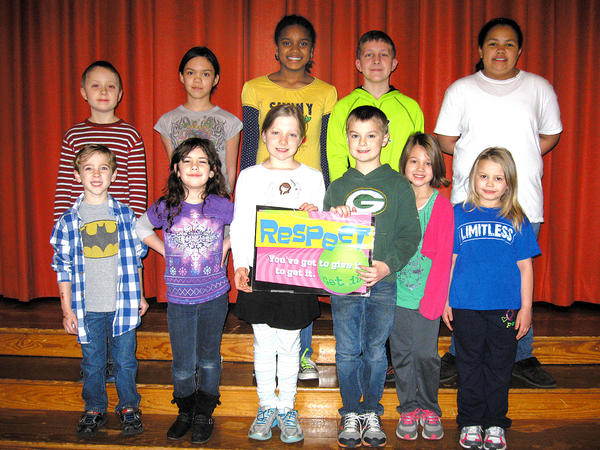 Potomac Heights Elementary School recently honored 12 students for exemplifying the character traits of a respectful student. Front row, from left, Sean Donley, Katie McNulty, Nora Lewis, Andrew Neisser, Lucy Clemente and Airyana Phoebus. Back row, Nicholas Bofenkamp, Anastasia Gracie Wallace, Peyton Carroll, Grant Anderson and Madalen Morton. Not pictured: Tiffani Turner.
