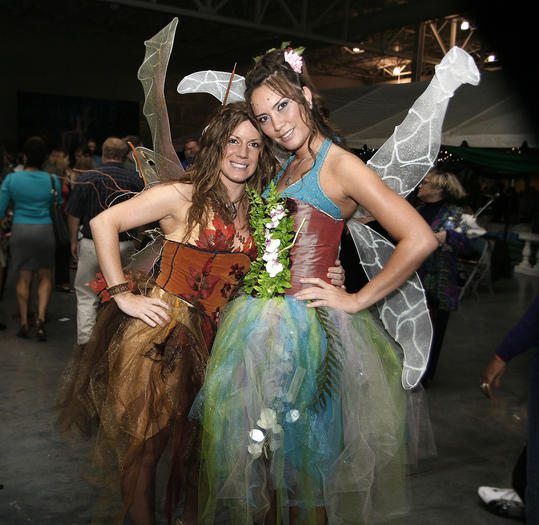 Fairies Megan Phillips and Rebecca Jarrell help Opus 9 illustrate the enchanted garden theme at the 2012 Tastefully Yours