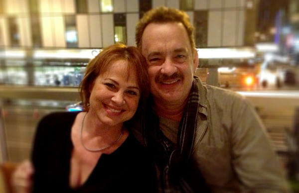 "Photo provided Deirdre Lovejoy, left, and Tom Hanks will appear on Broadway together in the play ""Lucky Guy,"" opening April 1, 2013. Lovejoy grew up in Elkhart and is the daughter of retired Elkhart Truth arts editor Marcia Fulmer."
