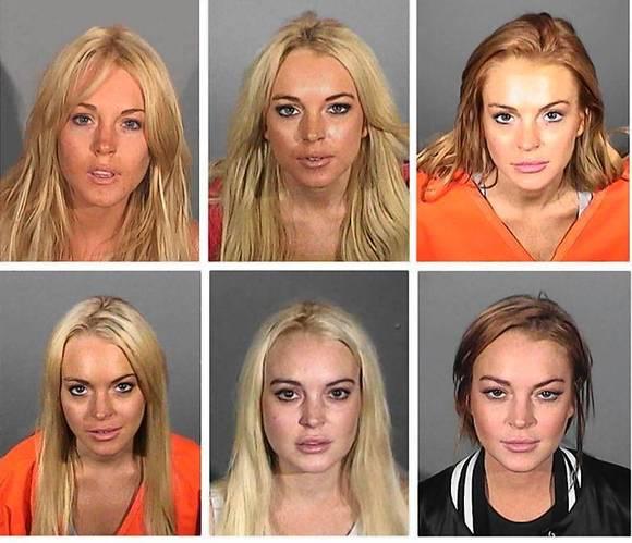 Actress Lindsay Lohan booking photos