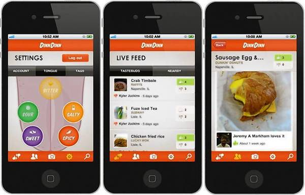 Two North Central College students developed a mobile app called DinnDinn, which allows users to share comments about restaurants and food dishes.