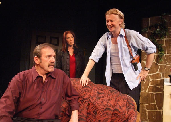 "Mik Scriba. left, Elizabeth Lande and Johnny O'Callaghan in ""Remembrance"" at Theatre 40."