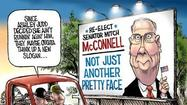 Senate Minority Leader Mitch McConnell will not be facing a challenge from actress Ashley Judd when he runs for re-election next year. Though he may be happy to have avoided the physical comparison -- she, after all, played Marilyn Monroe in a movie, while he looks like an ancient sea turtle dressed in a $1,000 suit -- the Kentucky Republican may miss having such an attractive target for his attack machine.