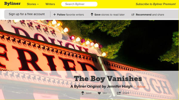 "The Byliner story ""The Boy Vanishes"" by Jennifer Haigh, a finalist for the 2013 National Magazine Award"