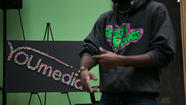 YOUmedia open-mic at Harold Washington Library