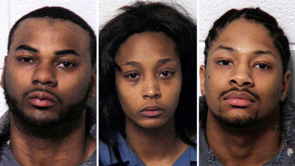 Bethlehem police said Anthony Clarence Holmes, Jasmine Mingo and Alphonso Narcisco Matos have been charged after a birthday bash for Mingo ended in gunfire Friday.