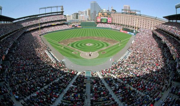 The ballpark that changed baseball as it looked on its first Opening Day, April 6, 1992.