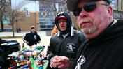 Chilled Sox tailgaters on Opening Day