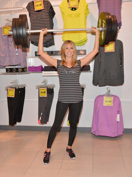 Heidi Klum at an event touting the launch of her new Heidi Klum for New Balance collection at a Lady Foot Locker store in Culver City on March 14.