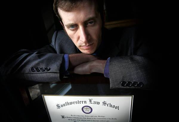 Michael D. Lieberman is one of dozens of law grads who have joined class actions alleging that law schools lured them in with misleading reports of their graduates' success.