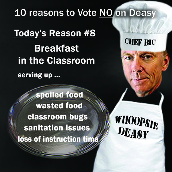 The teachers union, in this satirical doctored photo for its website, imagines L.A. schools Supt. John Deasy as a chef dishing up an ill-advised policy on breakfast in classrooms.