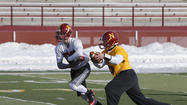 Northern State finally got to practice in some nice weather.