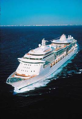 Radiance of the Seas sets sail from the Port of Tampa.
