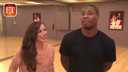 Jacoby Jones' DWTS partner praises his backside [Video]