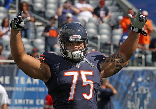 The Bears have released defensive tackle Matt Toeaina.