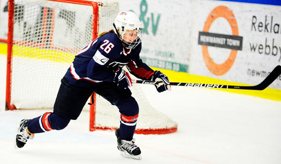 Kendall Coyne at the 2011 Four Nations Cup.