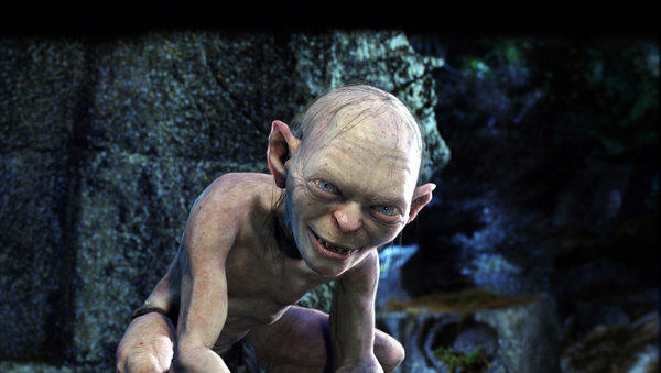 "The ring-obsessed Gollum as seen in Peter Jackson's film ""The Lord of the Rings: The Two Towers."""