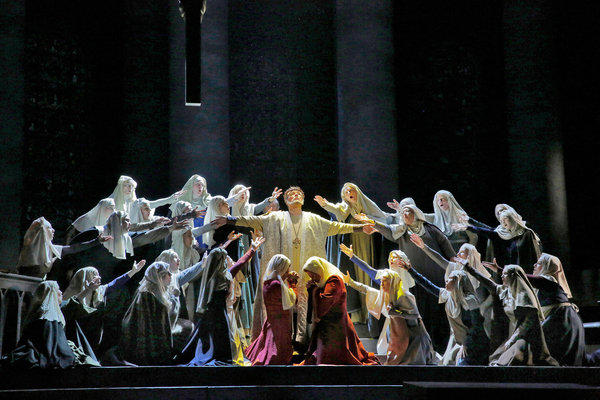 Bass Ferruccio Furlanetto as Thomas Becket in San Diego Opera's 'Murder in the Cathedral.'