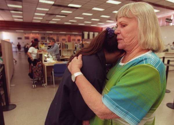 A grandmother consoles her granddaughter, who has just failed her written driver's license test. CarInsurance.com recently polled 500 U.S. drivers and found that 44% would have failed a typical written test.
