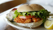 Calypso Shrimp and Scallop Burgers With Stone Crab Mustard Sauce