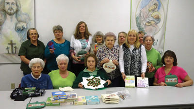 The ladies W.C.S.C. group of the United Community Church annual spring bazaar is set for Saturday. From left are, seated: Louise Koontz, Linda Gary, Evelyn Colflesh, Ellen King. Standing: Eileen Conn, Linda Fennell, Donna Smith, Jessie Conway, Dorothy Rugg, Loretta Thomas, Joyce Martin, Lisa Megown and Nancy Koontz.