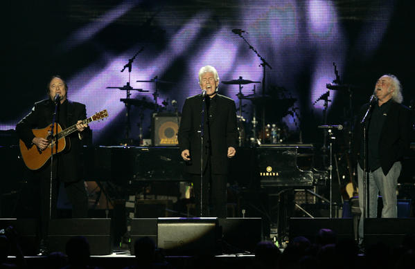 Stephen Stills, left, Graham Nash and David Crosby, shown performing in Los Angeles in 2010, will headline an Autism Speaks benefit on April 13 in Los Angeles.