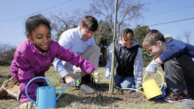 Dominion Virginia Power: Tree project gives redbud seedlings to students in honor of Arbor Day April 26