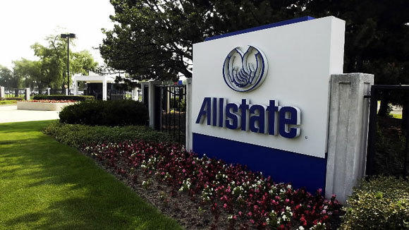 A sign marks the Allstate headquarters in Northbrook in a 2003 file photo.