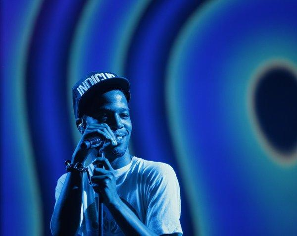 Kid Cudi performs during the first day of Rock the Bells Festival at the San Bernadino Nos Events Center in 2012.