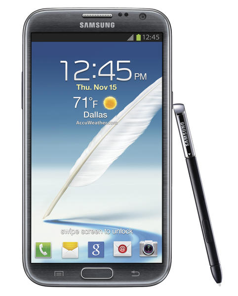 The Galaxy Note II currently features the biggest screen of any Samsung smartphone.