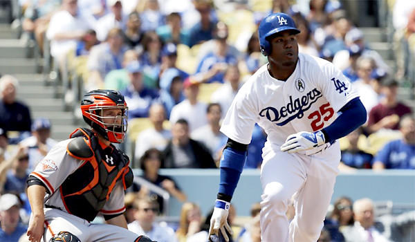 Carl Crawford will be out of the Dodgers' lineup for their second game of the season against the San Francisco Giants.