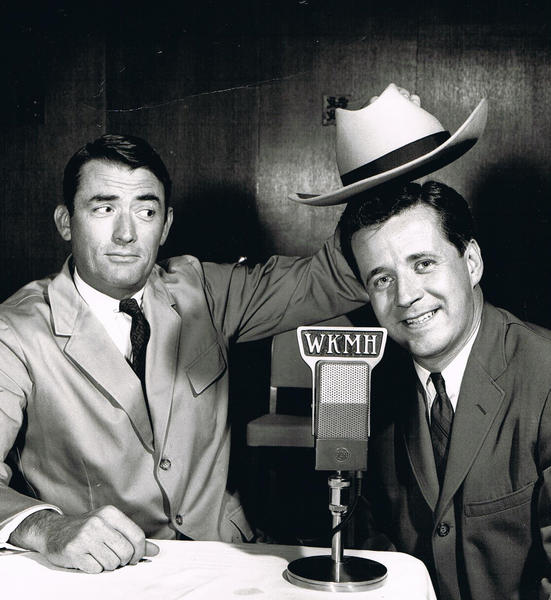 Marty McNeeley (right) with actor Gregory Peck.