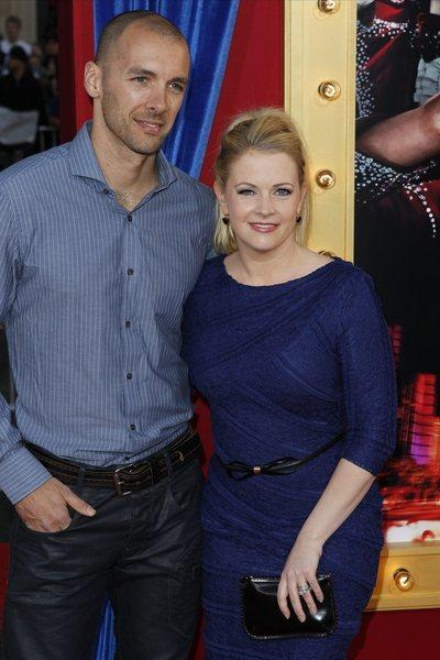 Melissa Joan Hart and husband Mark Wilkerson attend a movie premiere in March.