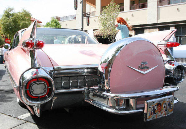 During the late 1950s and early '60s, huge tail fins were the trademarks of Cadillac automobiles, such as this 1959 Coupe de Ville. A show April 13-14 in Las Vegas celebrates 100 years of the luxury vehicles.
