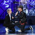 Ellen DeGeneres and Bruno Mars