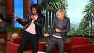 Ellen DeGeneres and Michelle Obama