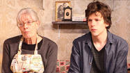 NEW YORK — On a cramped stage at the Cherry Lane Theatre, a historic off-Broadway venue tucked away on one of the quaintest streets in the West Village, Vanessa Redgrave is offering her costar Jesse Eisenberg an education not even the world's finest drama school could provide.